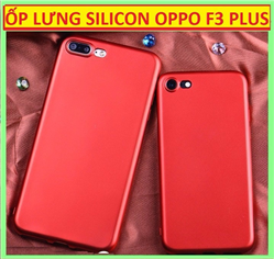 Ốp lưng silicon dẻo đỏ OPPO F3 Plus giả iPhone 7 Plus Red