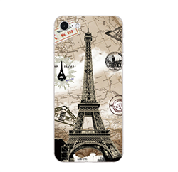 Ốp silicon 3D chống sốc OPPO F1S A59 hãng My Colors hình Map Tower (Tháp Eiffel)